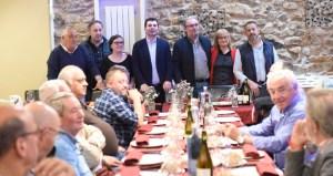 Xantar de Caballero con membros das candidaturas valdeorresas do PSdeG ás municipais