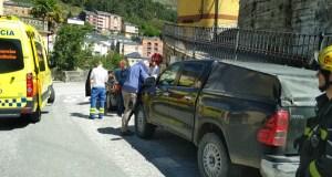 Accidente de tráfico no cruce de Sobradelo (Carballeda de Valdeorras)