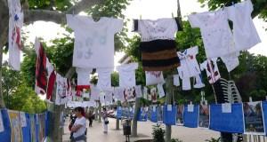 Tendal xigante no Malecón do Barco para homenaxear a Antonio Fraguas