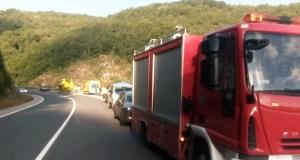 Dous feridos en Trives ao caer por un barranco o vehículo no que circulaban