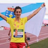 A saltadora valdeorresa Leticia Gil, nunha competición europea