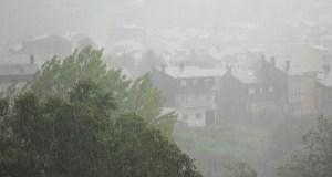 Alerta laranxa por tormentas e chuvia na montaña ourensá neste mediodía