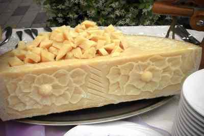 Parmiggiano Reggiano carving