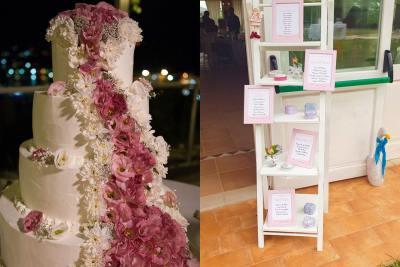 torta matrimonio con fiori