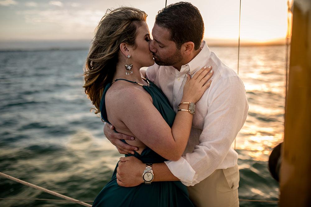 miami sailboat engagement shoot