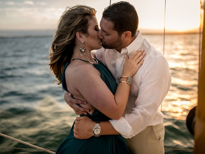 ADVENTUROUS SAILBOAT ENGAGEMENT SESSION OFF OF COCONUT GROVE MARINA