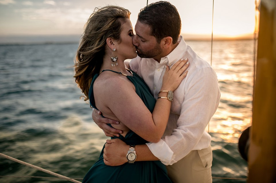 miami sailboat engagement shoot