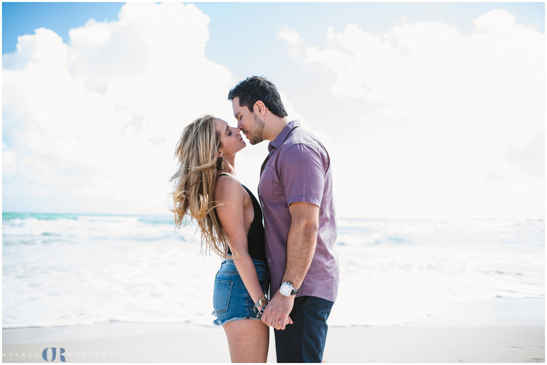 miami beach engagement photo