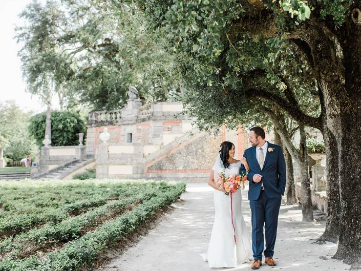 Miami Beach Destination Wedding | Vizcaya First Look | The Nautilus Hotel