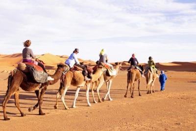 Camel Ride in Sahar Desert, Morocco
