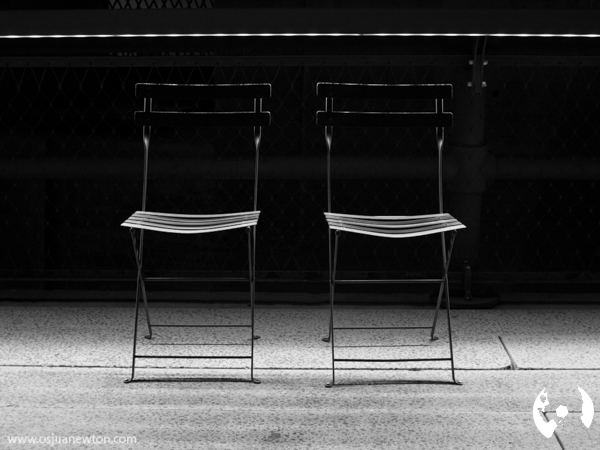 Two Chairs, Highline, Manhattan, NY, August 2012