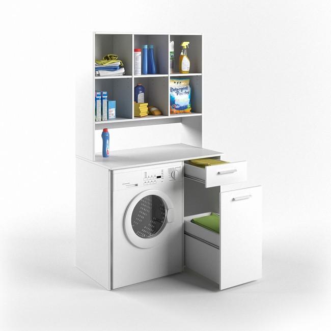 Mobile bagno da incasso per lavatrice armadio bagno con
