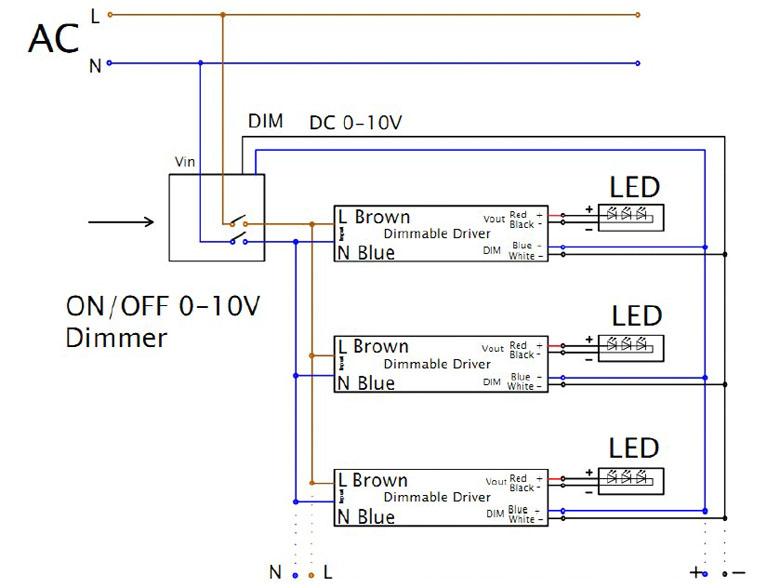 0 10v analog signal wiring 2009 ford ranger headlight diagram 0/1-10v dimmable led tri-proof lighting al housing 1500mm 60w 6500lm 6000k - osleder ...