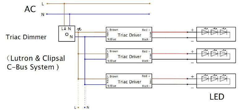 triac dimming wiring diagram