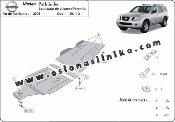 Osłona pod silnik Nissan Pathfinder