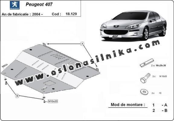 Stalowa Stalowa Osłona pod silnik Peugeot 407