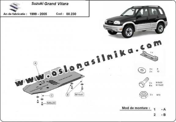 Osłona skrzyni biegów Suzuki Grand Vitara