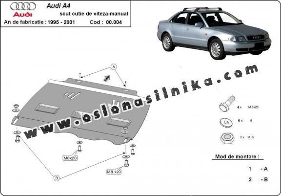 Stalowa Stalowa Osłona manualnej skrzyni biegów Audi A4 B5