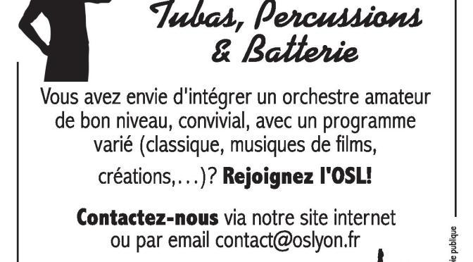 Musiciens amateurs de Lyon : Rejoignez-nous pour cette nouvelle saison 2017-2018