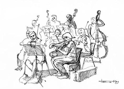 L'OSL en concert a Bourgoin le 15/06/2013 dessinés par Oleg,  http://oleg-art.com