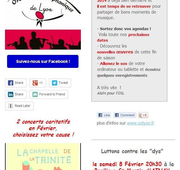 OSL La newsletter de Janvier est là