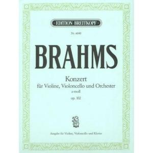 double concerto pour violon et violoncelle de BRAHMS opus 102