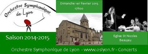 Concert OSL Beaujeu 1/02/2015