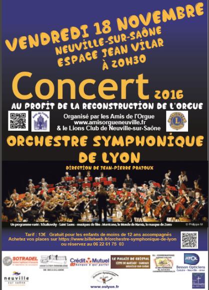 Concert de l'OSL à Neuville le 18 Novembre 2016