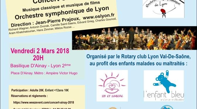 concert caritatif OSL et Rotary 2018 - 2 Mars 2018