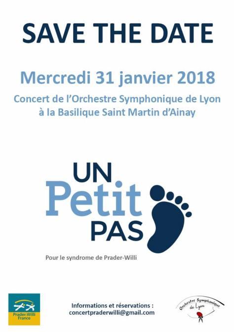 Concert de l'OSL à Ainay pour Prader Willi le 31/01/2018 à 20h