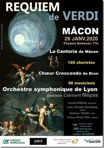 Concert Requiem de Verdi Macon 26 Janvier 2020