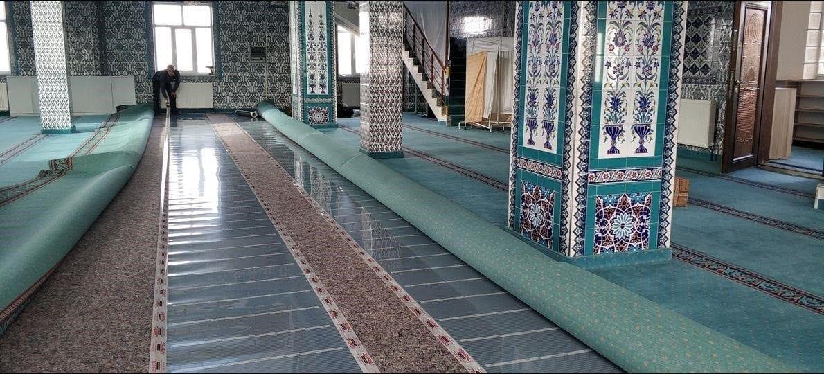 osmanli cami alttan ısıtma