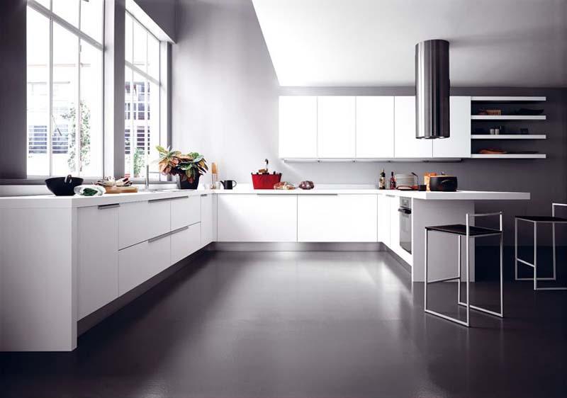 Cucina moderna bordo alluminio