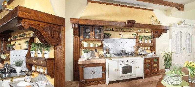 Cucina rustica castagno invecchiato