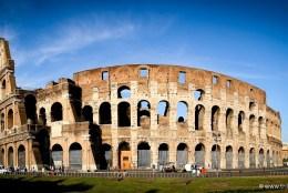 Coliseu romano, também conhecido por Anfiteatro Flavio
