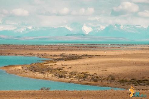 As cores azuis saturadas do Lago Argentino #3
