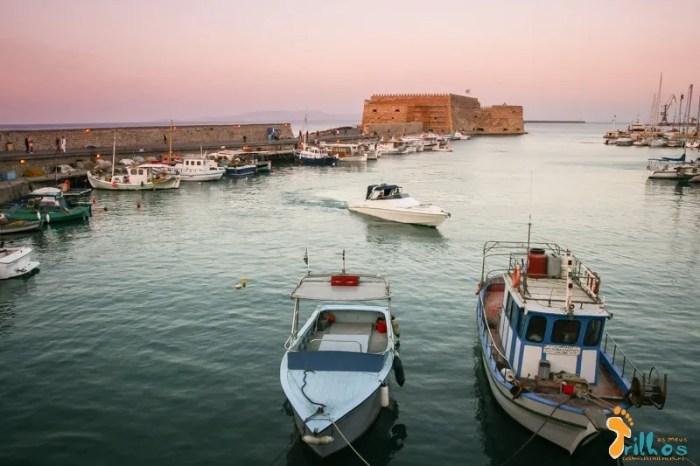 O belíssimo porto Veneziano de Heraclion, Creta (Grécia)