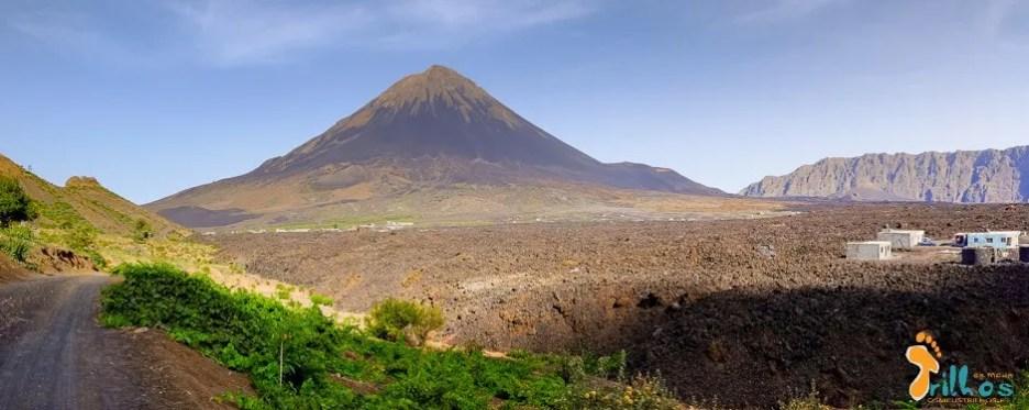 Panorâmica do vulcão do Fogo.