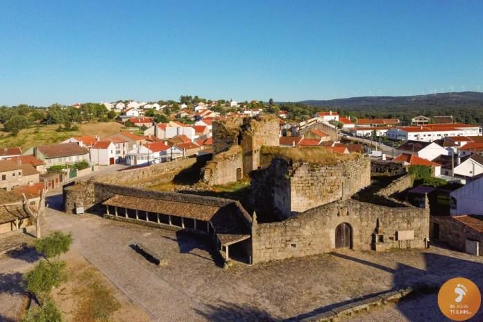 Vista aérea do  Castelo de Alfaiates - 5 vilas medievais no Sabugal