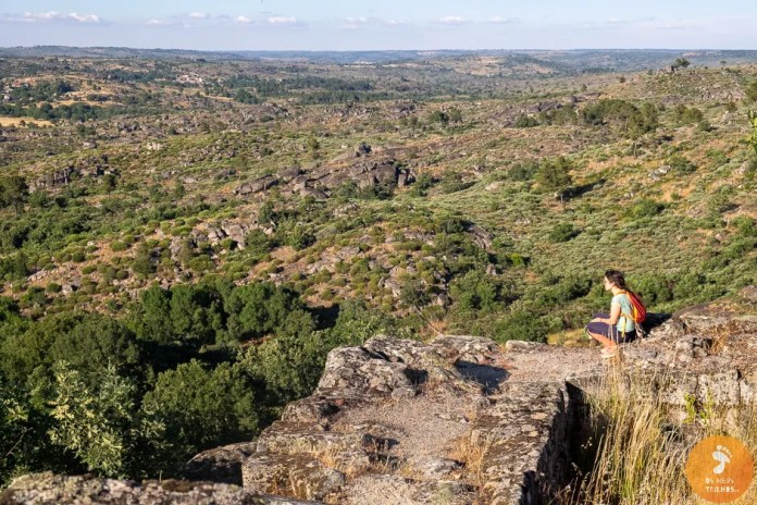 as vistas desde o castelo da Vila do Touro