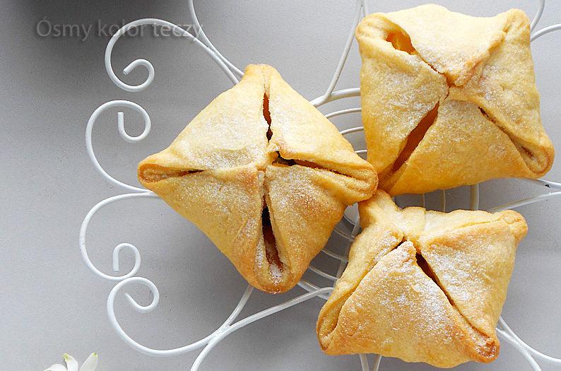 ciasto piwne jabłka w kopertach