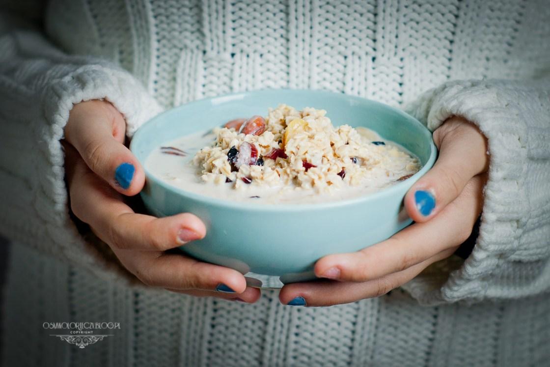 przepis na zdrowe śniadanie - owsianka