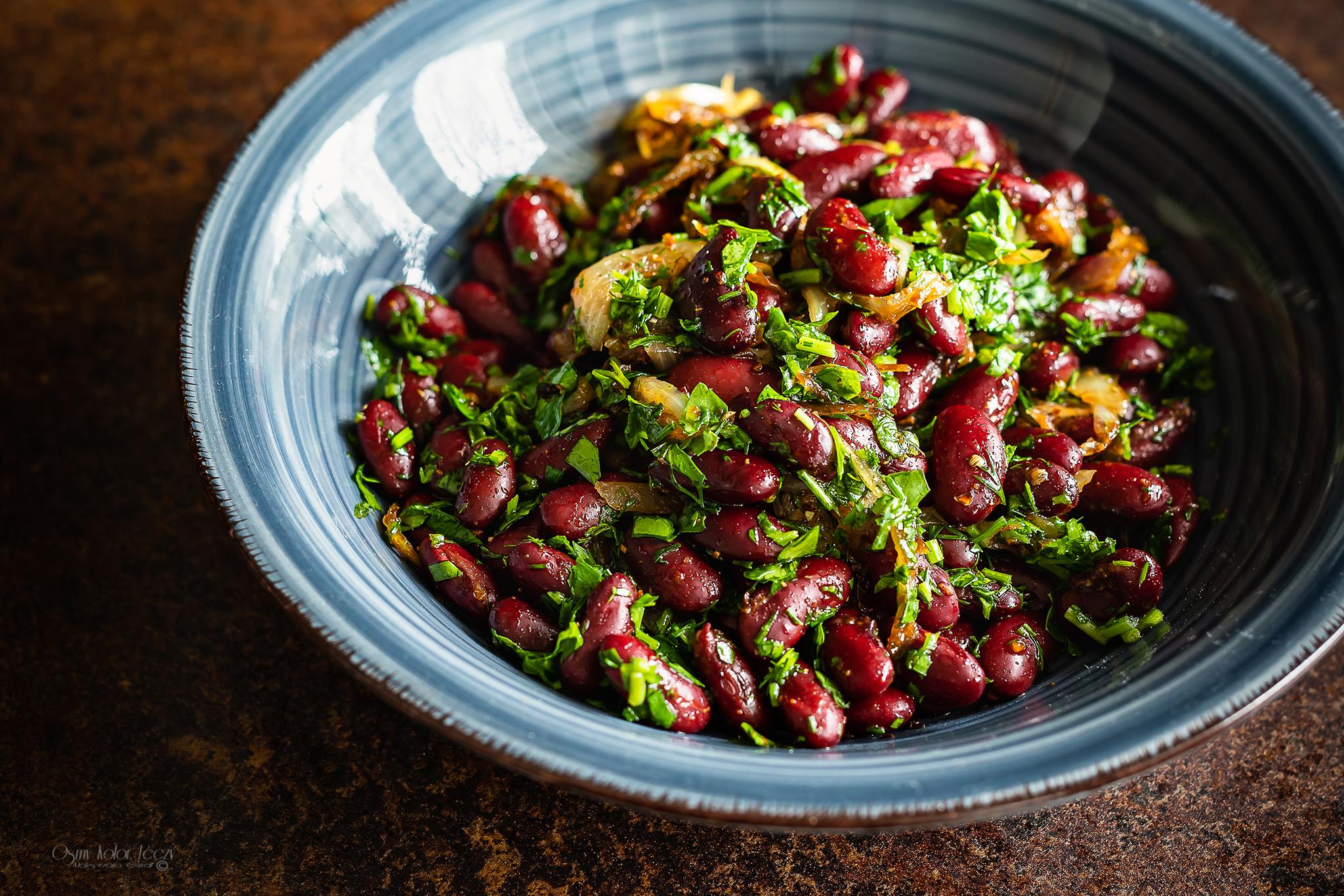 salatka z czerwonej fasoli