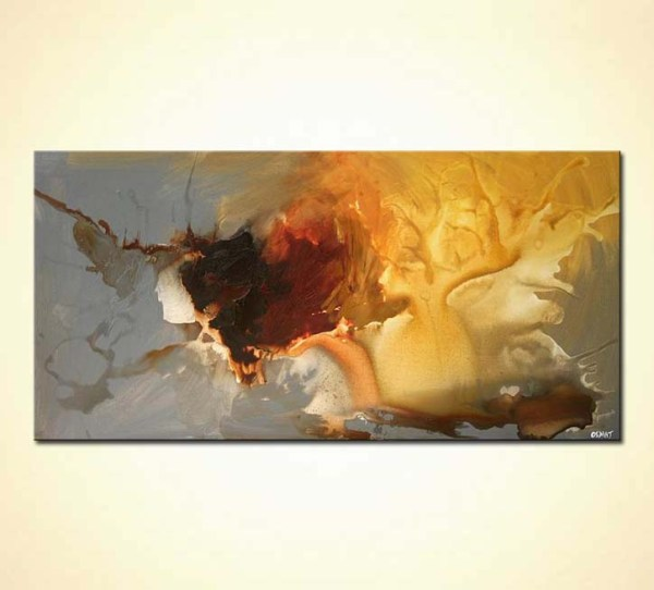 Orange Contemporary Abstract Art Paintings