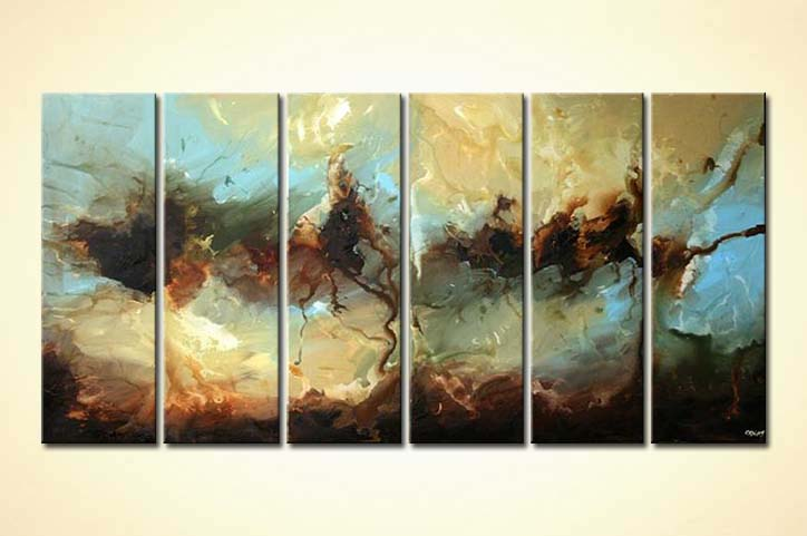 Painting for sale  multi panel abstract decor painting splash 5499