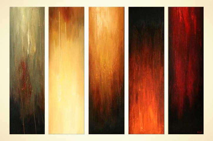 Abstract Painting Multi Panel Abstract Home Decor Painting #5751