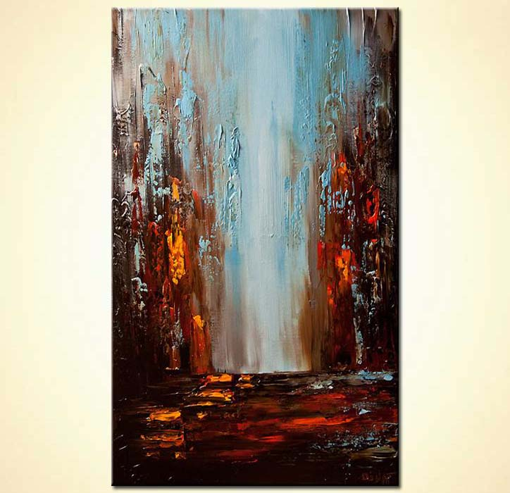 Painting for sale  city rush cityscape painting 6053