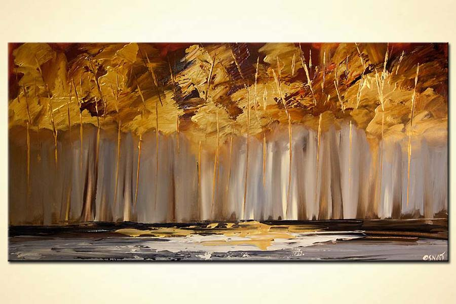 Painting for sale  golden trees painting abstract