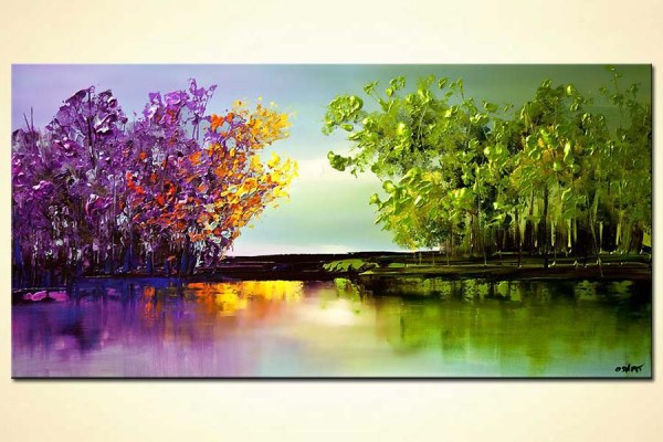 modern abstract landscape painting