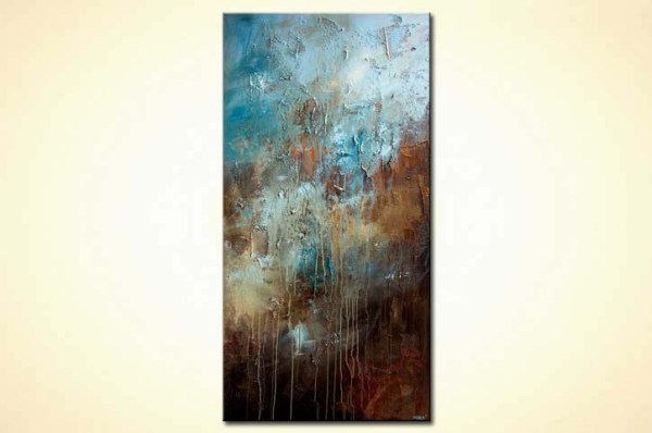 Blue Brown Abstract Art Painting
